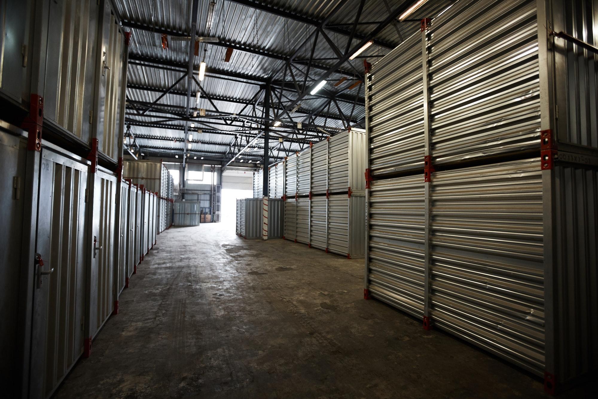 Dark cargo storage room